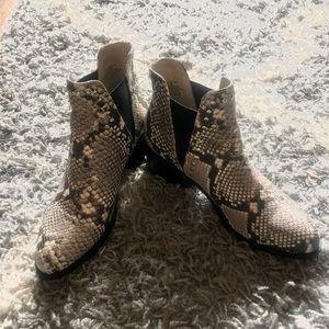 Steve Madden snake skin boots